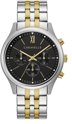 Bulova CARAVELLE Designed by Caravelle Men's Chronograph Watch, Two-Tone Bracelet - 45A143