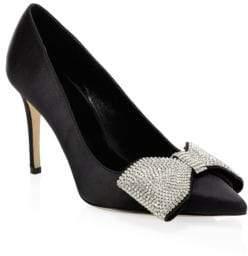 66445b8fe9a9 at Saks Fifth Avenue · Kate Spade Viena Satin   Crystal Bow Pumps