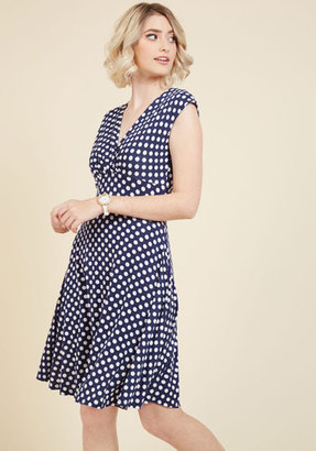 ModCloth Point of No Intern Polka Dot Dress in S $59.99 thestylecure.com