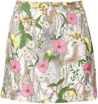 Piccione Piccione Piccione.Piccione sequin embellished mini skirt