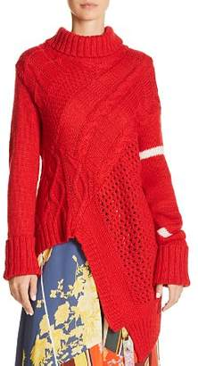 Preen Line Asymmetric Turtleneck Sweater