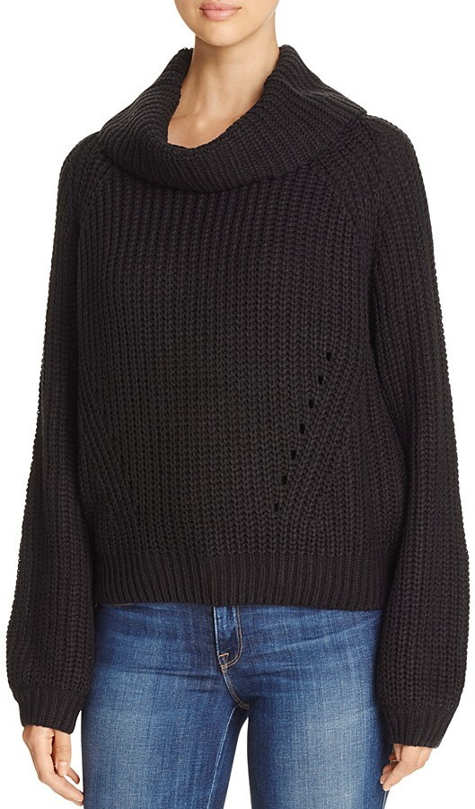 Elan Cropped Cowl Neck Sweater
