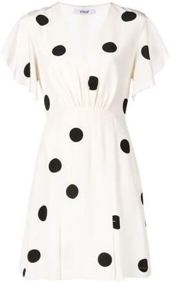 Derek Lam 10 Crosby V-Neck Ruffle Sleeve Dress
