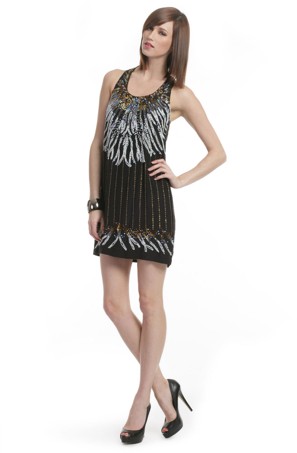 Nicole Miller Stardust Beaded Dress