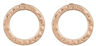 Melrose and Market Hammered Circle Stud Earrings