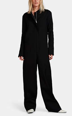 Jil Sander Women's Wool Twill Wide-Leg Jumpsuit - Black