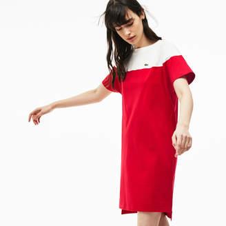 Lacoste (ラコステ) - カラーブロック コットンジャージー ボートネックTシャツドレス