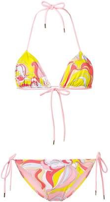 Emilio Pucci Rivera Print Triangle Bikini