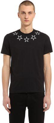 Cuban Stars Print Cotton Jersey T-Shirt $505 thestylecure.com