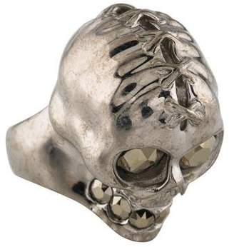 Alexander McQueen Lace Up Skull Ring