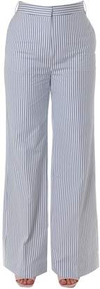 Victoria Beckham Victoria Palazzo Stripped Cotton Pants