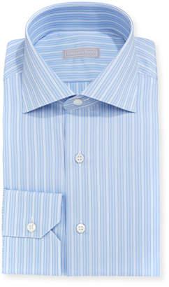 Stefano Ricci Thick Striped Cotton Dress Shirt