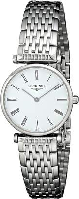 Longines Women's LNG42094116 La Grande Analog Display Quartz Silver Watch