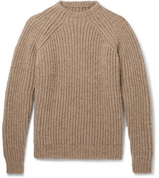De Bonne Facture Ribbed Wool Sweater