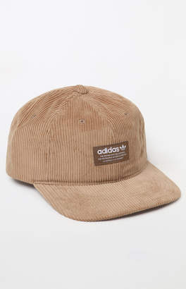 958c0786a83 adidas Relaxed Wide Wale Khaki Strapback Hat
