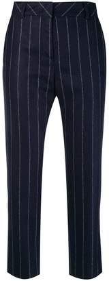 Eleventy chalk stripe cropped trousers