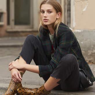 Sandro Tartan print jacket