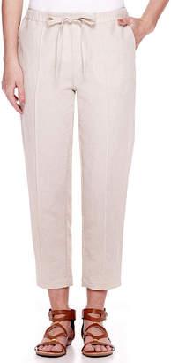 Liz Claiborne Wide-Leg Linen-Blend Pants - Petite