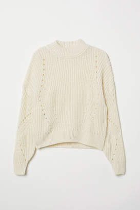 H&M Rib-knit Sweater - White