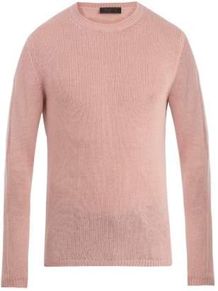 Prada - Crew Neck Cashmere Sweater - Mens - Pink