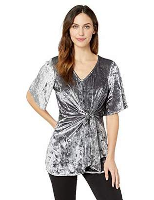 Lysse Women's Jerry Crushed Velvet Twist Front Tunic