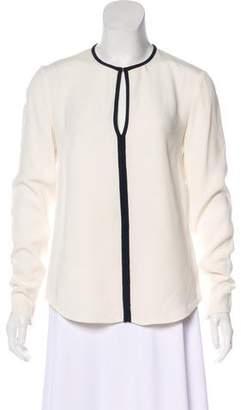 Joseph Silk Long Sleeve Top