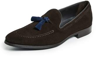 To Boot Devon Contrast Drop Tassel Loafers