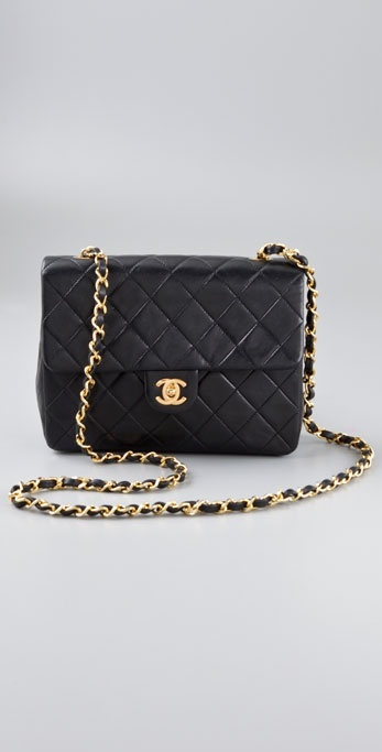 Wgaca Vintage Vintage Chanel Black Quilted Bag