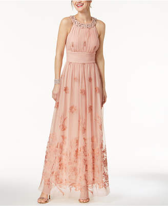 Jessica Howard Beaded Embroidered Gown