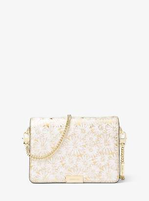 MICHAEL Michael Kors Jade Floral Metallic Leather Clutch