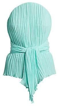 TRE by Natalie Ratabesi Women's Plisse Chiffon Strapless Top