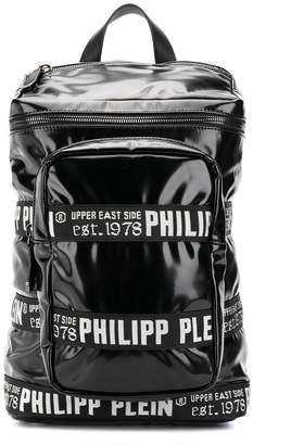Philipp Plein logo trim backpack