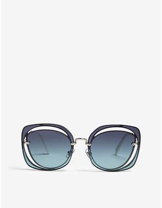 Miu Miu Scénique MU54SS irregular square-frame sunglasses