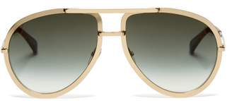 Givenchy Aviator Metal Sunglasses - Womens - Gold Multi
