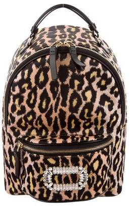Roger Vivier 2019 Printed Sexy Choc Buckle Backpack w/ Tags