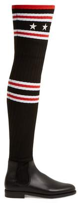 Givenchy Storm Over The Knee Boots - Womens - Black Red
