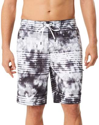 Speedo Men's Mistyblur Striped Board Shorts