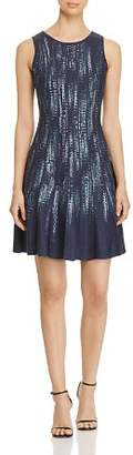 Nic+Zoe Lightening Streaks Fit-and-Flare Dress