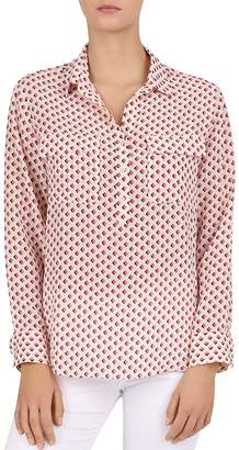 Gerard Darel Edy Silk Geo-Print Shirt