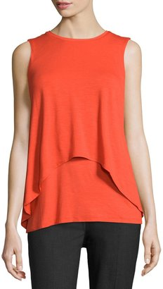 Philosophy Round-Neck Double-Layer High-Low Tank Top, Malibu Orange $59 thestylecure.com