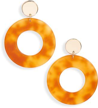 Lele Sadoughi Circle Hoop Earrings