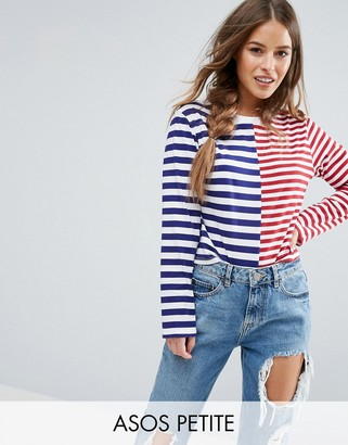 ASOS Petite ASOS PETITE T-Shirt in Boxy Fit and Cut About Stripe $29 thestylecure.com