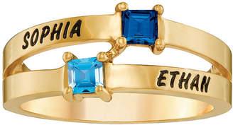 FINE JEWELRY Personalized Engraved Split Shank Birthstone Ring