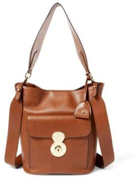 Ralph Lauren The Calfskin Rl Bucket Bag Chestnut One Size