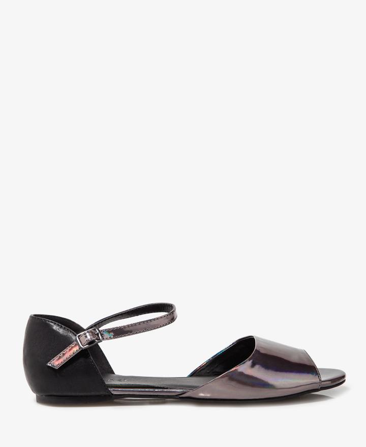 Forever 21 Colorblocked Hologram Sandals