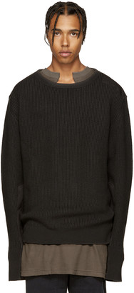 YEEZY Season 1 Grey Wool Undestroyed Sweater $1,560 thestylecure.com