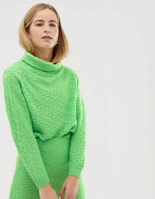 Asos (エイソス) - ASOS DESIGN two-piece textured high neck sweater