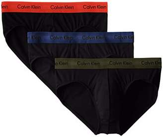 Calvin Klein Men`s Cotton Stretch Hip Brief 3-Pack