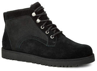 UGG Bethany Sheepskin and Suede Ankle Boots