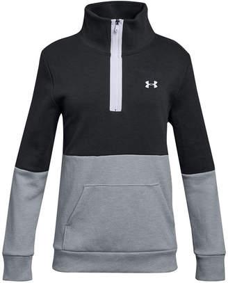 Under Armour Big Girls Double-Knit 1/2-Zip Colorblocked Sweatshirt
